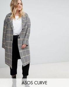 3ef0418ed26 ASOS DESIGN Curve slim coat in colored check. Minimalism Capsule Wardrobe ·  Minimalism Plus Size Capsule