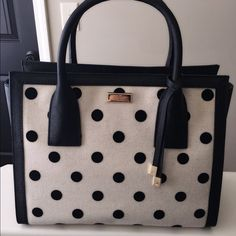 Brand new Kate spade meriwether polkadot bag Brand new with tag polkadot handbag with golf hardware logo and is 100% authentic kate spade Bags Totes
