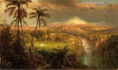 Frederick Edwin Church, Passing shower in the Tropics, 1872