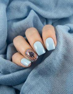 Free hand 2 Nails Design