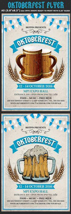 Oktoberfest Flyer Template PSD #design Download: http://graphicriver.net/item/oktoberfest-flyer-template-4/12795436?ref=ksioks