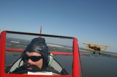 Chris Chapman with me on his wing.