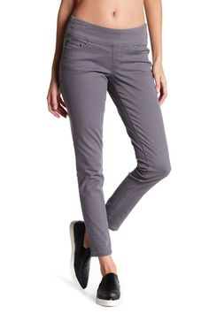 050783994946 NWT JAG Estelle Skinny in Flint Gray High Rise Stretch Cotton Pull-on Pants  12  JagJeans  KhakisChinos