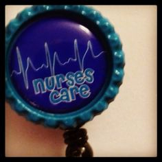 Nurses Care Bottle Cap Id Snap Clip Retractable Badge Reel on Etsy, $8.55