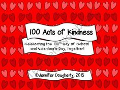 FREE 100 Acts of Kindness product from Jennifer-Dougherty on TeachersNotebook.com