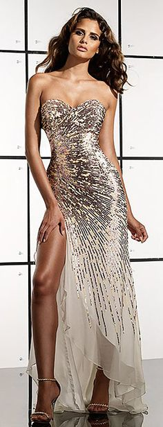 9b00dd6401cc sparkly gold and white dress Cheap Evening Dresses