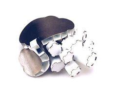 "SIMON COTTRELL-AUSTRALIA-""-Brooch: Blobs, white shadows and tubes 2006 Monel, paint 7 x 6 x 4,5 cm"