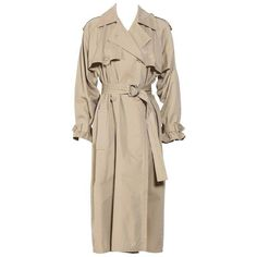 Preowned Vintage Yves St Laurent Safari Collection Trench Coat ($800) ❤ liked on Polyvore featuring outerwear, coats, multiple, pink coat, pink trench coat, yves saint laurent, vintage trench coat and trench coat