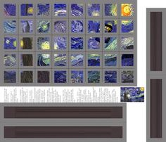 Starry   Night Cheater Quilt fabric - patchinista - Spoonflower