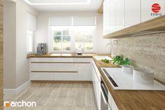 Dom w morelach Kitchen Room Design, Modern Kitchen Design, Living Room Kitchen, Kitchen Layout, Home Decor Kitchen, Interior Design Kitchen, New Kitchen, Home Kitchens, Kitchen White