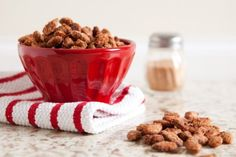 Cinnamon Almonds. I'm all about the homemade Christmas gifts this year.