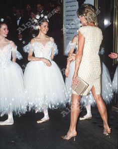 Diana Princess of Wales at the English National Ballet premiere of Alice in Wonderland 1996