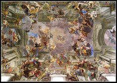 andrea pozzo's illusionistic ceiling painting in the nave of chiesa di san'ignazio, roma <3 research project spr'13