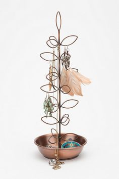 Copper Leaf Jewelry Stand  #UrbanOutfitters