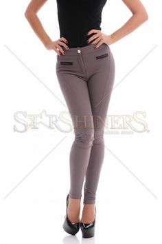 PrettyGirl Same Line Brown Trousers