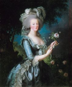 "Marie-Antoinette dit ""à la Rose"", 1783, Élisabeth Vigée-Lebrun.  Vigee-Lebrun captures M-A's beauty in this elegant portrait.  Its probably my favorite next to M-A as the shepardess."