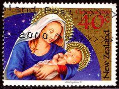 New Zealand.  MADONNA & CHILD.  Scott 1672 A463, Issued 2000 Sept 6, Perf. 14, .40. /ldb.