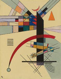 "The Arrow/"" Art Postcard Kandinsky /""Composition"