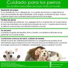 Cuida tus mascotas con los aceites esenciales 100% grado terapéutico doTERRA. Por que ellos se merecen lo mejor!!!