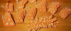 """Terrakotta """"mézeskalácsot"""" idéző kerámia karácsonyi dekoráció Pottery, Clay, Ceramics, Crochet, Terracotta, Ceramica, Clays, Ceramica, Pottery Marks"""