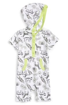 Nordstrom+Baby+Hooded+Cotton+Romper+(Baby+Boys)+available+at+#Nordstrom