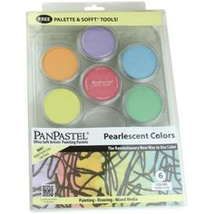 """Brand Spankin' New from Pan Pastels.  They have 6 NEW """"Pearlescent"""" colors that are a bit of shimmery happiness!  We have them IN STOCK in our retail and online store..."""