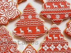 Red And White Christmas Cookies