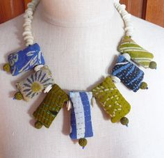 Kantha bead necklace by East Side Bags and Accessories