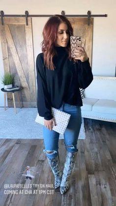 Cute Fall Outfits, Fall Fashion Outfits, Mom Outfits, Winter Outfits, Autumn Fashion, Night Outfits, Casual Outfits, Love Her Style, Looks Style