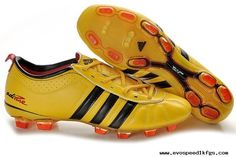the latest e985f 443fb adidas adiPURE IV TRX FG Light Yellow Black Red For Sale Cheap Soccer Cleats