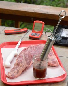 Injecting beef tri-tip, Reverse seared tri-tip, beef roast, big green egg beef recipe, grill dome beef recipe,