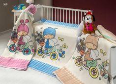 Detská deka BABY XL368 110x140cm s roztomilými broučky z toho nejjemnějšího materiálu práve pro Vás!