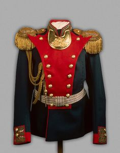 Tsar Nicholas II's Officers Uniform of the Life Guards Grenadier Regiment, circa 1908-1917.