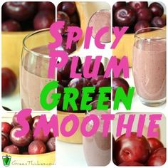 This spicy plum green smoothie is so flavorful! Just tried it this morning!