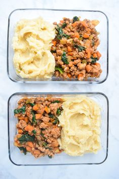 Meal Prep Mini Shepherd's Pies (Whole30 Paleo) - make these tasty mason jar shepherd's pies ahead for dinner tonight or lunch tomorrow! Easy, Whole30 approved, and the perfect grab-and-go meal!   tastythin.com