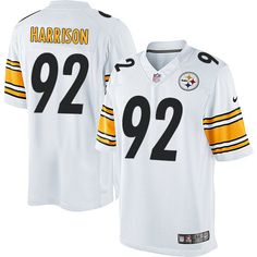24.99 Nike Limited James Harrison White Youth Jersey - Pittsburgh Steelers  92 NFL Road ... 8cedf0882