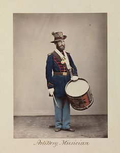 Attributed to Oliver H. Willard (American, active 1850s–70s, died 1875). Artillery, Musician, 1866. The Metropolitan Museum of Art, New York. The Horace W. Goldsmith Foundation Fund, through Joyce and Robert Menschel, 2010 (2010.35) #mustache