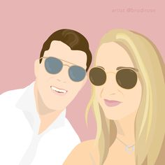 Order your custom, one-of-a-kind illustration. Illustrated by a professional designer in a modern, block colour style. Perfect for a gift, to use on social media or as a print in your home/office. Digital Illustration, Color Blocking, Social Media, Illustrations, Colour, Rose, Creative, Modern, Gifts