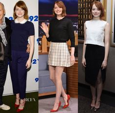 The last two days have seen a flurry of appearances for Emma Stone, who has been busy promoting her latest movie, 'Birdman'. 92nd Street Y Film Series: On
