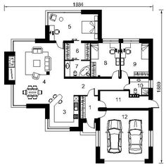 Dream House Plans, House Floor Plans, Passive Solar Homes, Home Design Floor Plans, Solar House, Open Plan Kitchen, Home Projects, Planer, New Homes