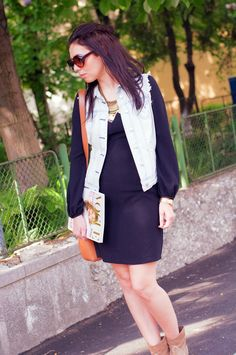 Fashion Lost: Reinvent the Little Black Dress Zara Dresses, Fashion Bloggers, Irene, Lost, Street Style, Blazer, Denim, Jackets, Down Jackets