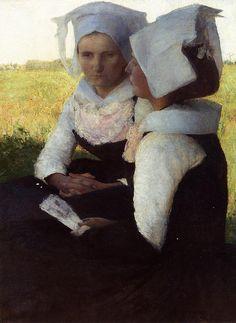 Breton Women 1887, Pascal-Adolphe-Jean Dagnan-Bouveret (1852-1929)