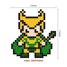 Pixel Art Grid, Perler Beads
