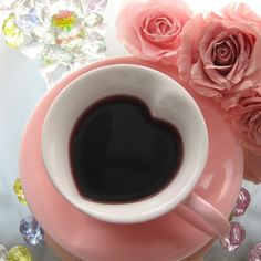 Heart cup of coffee - I have this cup! It's from Mary Kay! :D