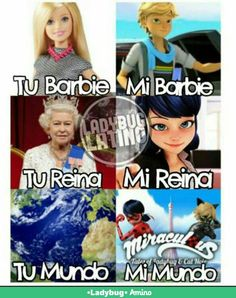 English Translation: Your Barbie, My Barbie, Your Queen, My Queen, Your World, My World