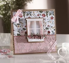 Card created with the English Country Garden collection from Sara Davies. #crafterscompanion