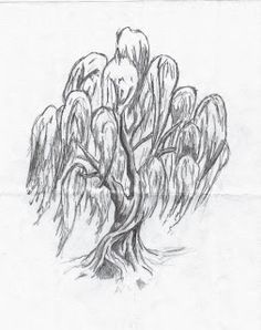 Weeping willow. always been my fav tree but now i know why ...Weeping Willow Black And White Tattoo