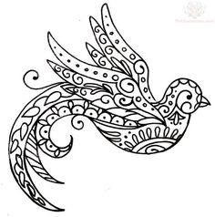 paisley swallow tattoo - Google Search