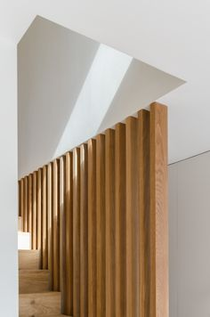 Image 5 of 19 from gallery of 14 Mowbray Road / Walker Bushe Architects. Photograph by Antonio Visceglia House Staircase, Staircase Railings, Stairways, Bannister, Railing Design, Staircase Design, Modern Stairs, Interior Stairs, House And Home Magazine