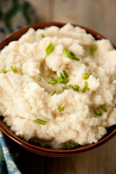 Paula Deen Mashed Cauliflower - nice alternative to mashed potatoes! I used fat free sour cream, but I did add some low fat cheese and turkey bacon, so that helped ;)